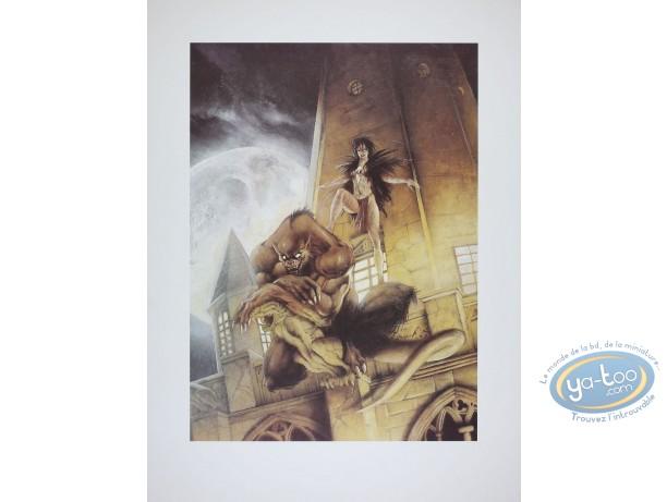 Affiche Offset, Garous : Civiello-Defali, Loup garou et prêtresse