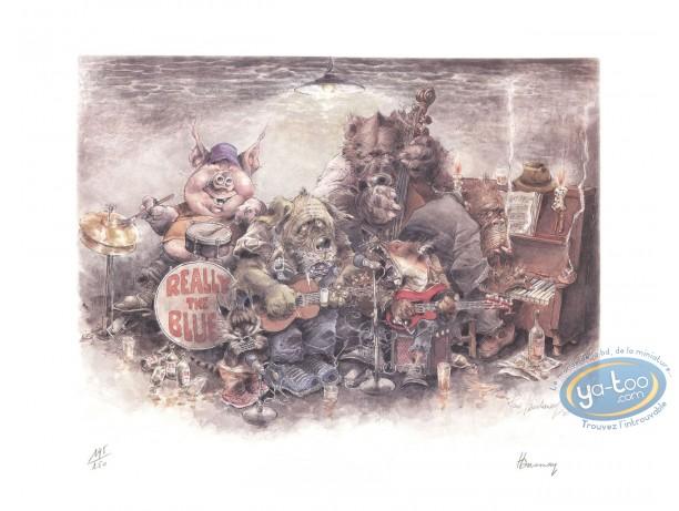 Affiche Offset, Blues Band