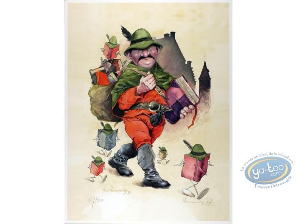 Affiche Offset, Le géant et les livres