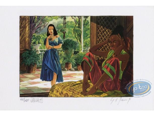 Affiche Offset, Equatoriales (Les) : 2 femmes sous la véranda