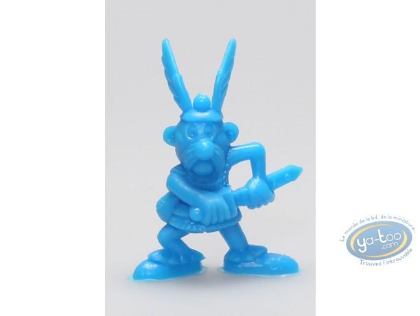 Figurine plastique, Astérix : Mini Astérix dégainant (bleu)