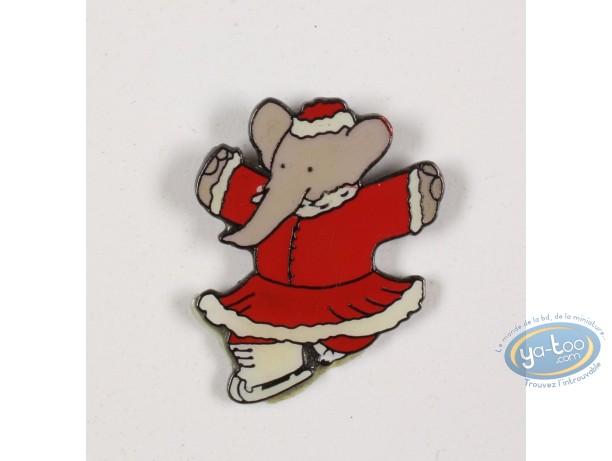 Pin's, Babar : Babar aux sports d'hiver, Céleste patine