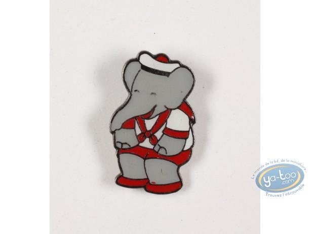 Pin's, Babar : Babar en costume de marin