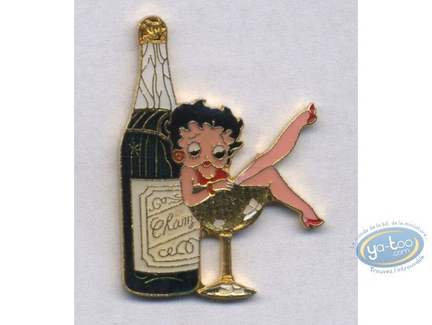 Pin's, Betty Boop : Champagne