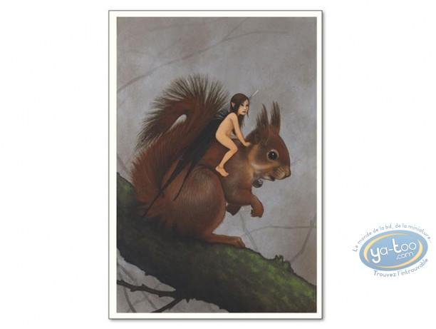 Affiche Offset, Féerie : Fée sur écureuil