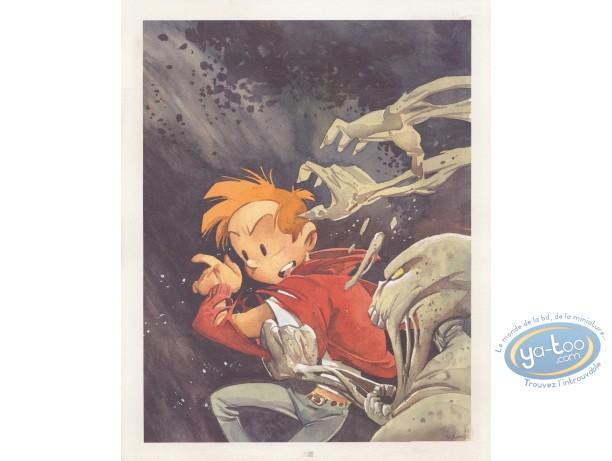 Affiche Offset, Spirou et Fantasio : L'homme qui ne voulait pas mourir