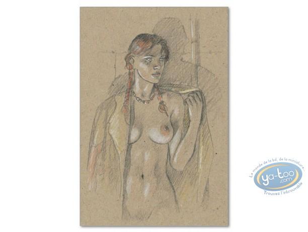 Affiche Offset, Plume aux Vents : Ariane de Troïl dénudée
