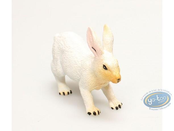 Figurine plastique, Animaux : Lapin blanc