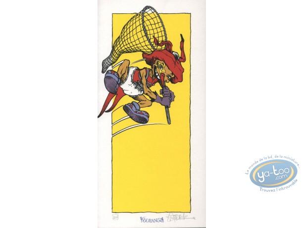 Ex-libris Sérigraphie, Mangecoeur : Saut