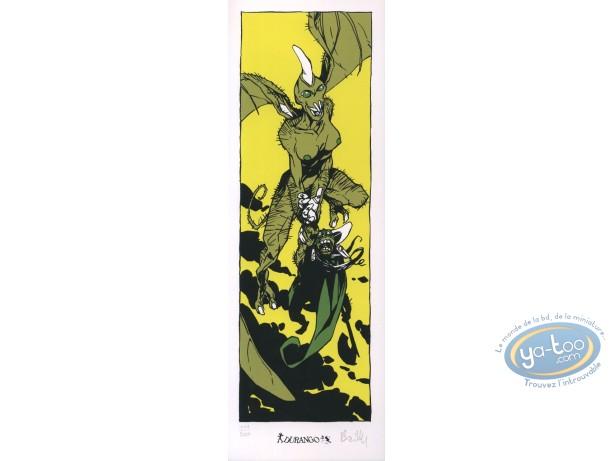 Ex-libris Sérigraphie, Cœur de Sang (Le) : Monstres volants