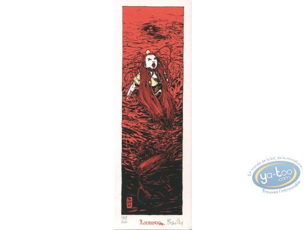 Ex-libris Sérigraphie, Cœur de Sang (Le) : Femme dans l'eau