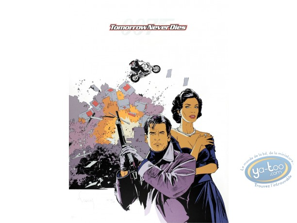 Affiche Sérigraphie, James Bond : Tomorrow never dies