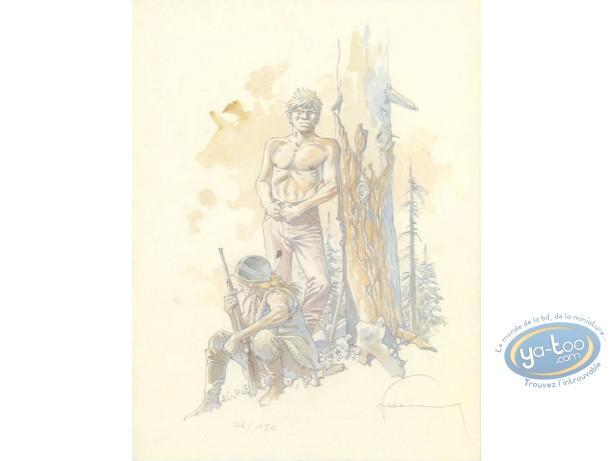 Ex-libris Offset, Jérémiah : Devant un arbre