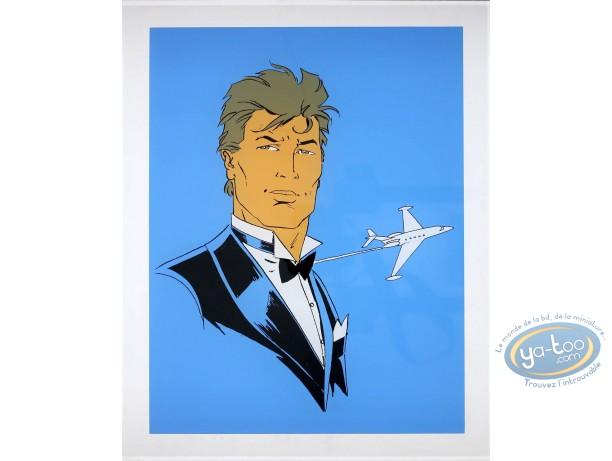 Affiche Sérigraphie, Largo Winch : Largo et avion
