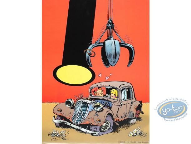 Affiche Offset, Petit Spirou (Le) : La Traction (petit)