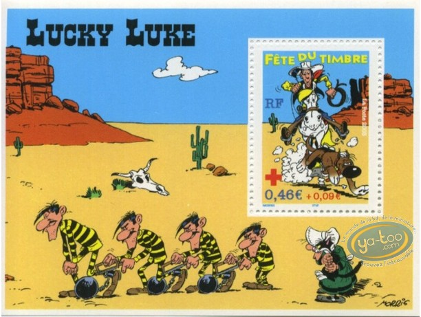 Timbre, Lucky Luke : Timbre Lucky Luke à cheval, Lucky Luke