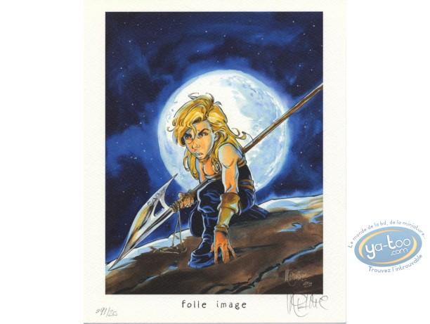 Ex-libris Offset, Kookaburra : Guerrier sous la lune