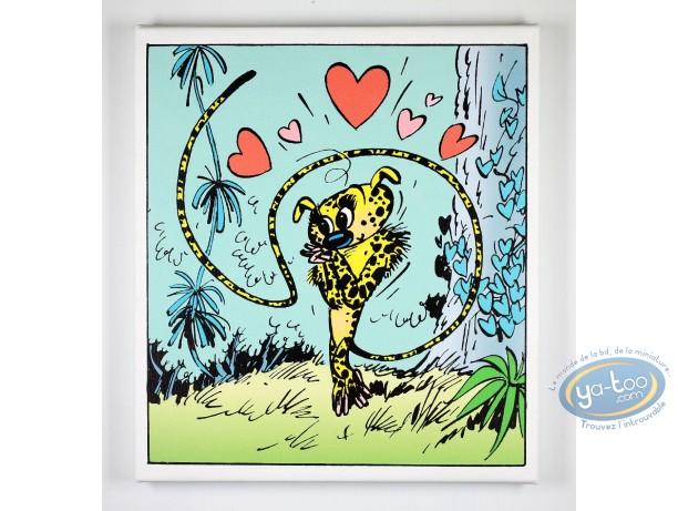 Impression sur toile, Marsupilami (Le) : Marsupilamie amoureuse