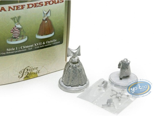 Figurine métal, Nef des Fous (La) : Clément XVII & Ophélie (non peinte)