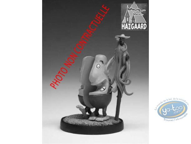 Figurine métal, Donjon : Jean-Jean & Yvette (non peinte)