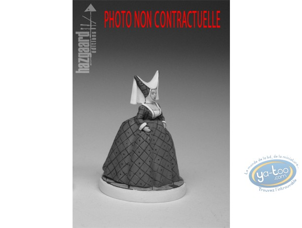 Figurine métal, Nef des Fous (La) : Reine Ophélie - Reine Blanche (non peinte)