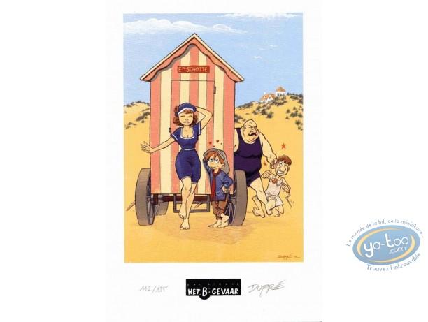 Ex-libris Offset, Sarah et Robin : La plage