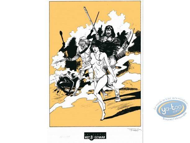 Ex-libris Sérigraphie, Pionniers du Nouveau Monde (Les) : Bataille