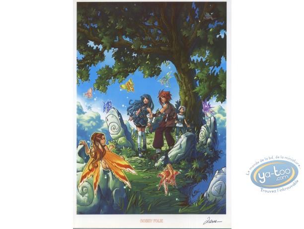 Ex-libris Offset, Pixie : Arbre et fées