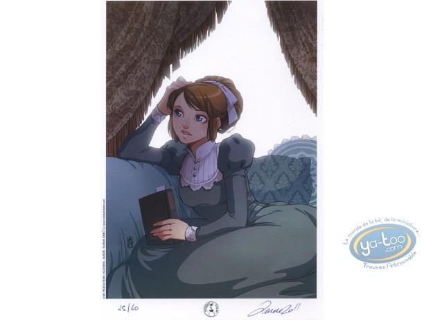 Ex-libris Offset, Eliinor Jones : Jeune fille et livre