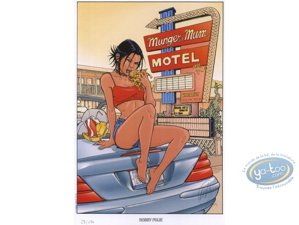 Ex-libris Offset, James Healer : Motel