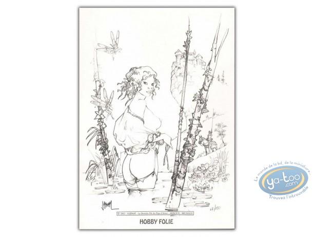 Ex-libris Offset, Dernière Fée du Pays d'Arvor (La) : Femme nue dans la rivière