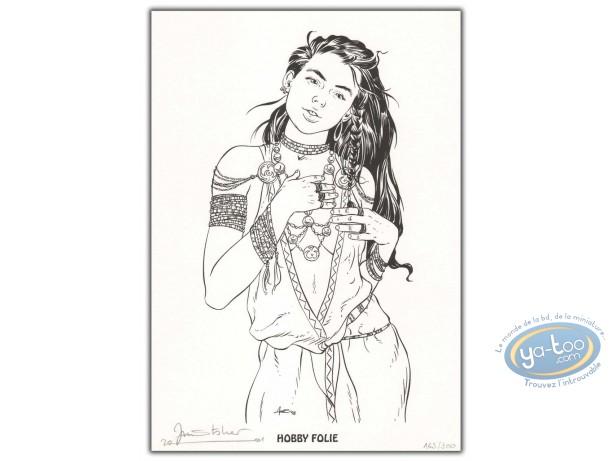 Ex-libris Offset, Cercle de Minsk (Le) : Femme aux bijoux