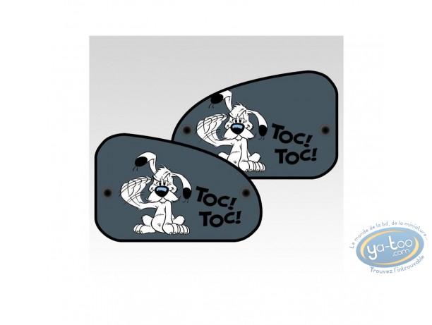 Accessoire auto, Astérix : 2 Pare-Soleil latéraux XL, Idefix : 'Toc-Toc'