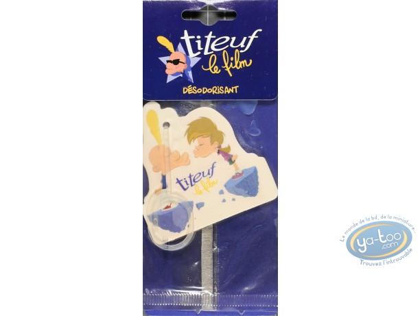 Accessoire auto, Titeuf : Désodorisant voiture, Titeuf et Nadia bisous parfum vanille