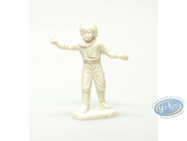 Figurine plastique, Rintintin : Rusty blanc montrant du doigt