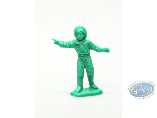 Figurine plastique, Rintintin : Rusty vert montrant du doigt