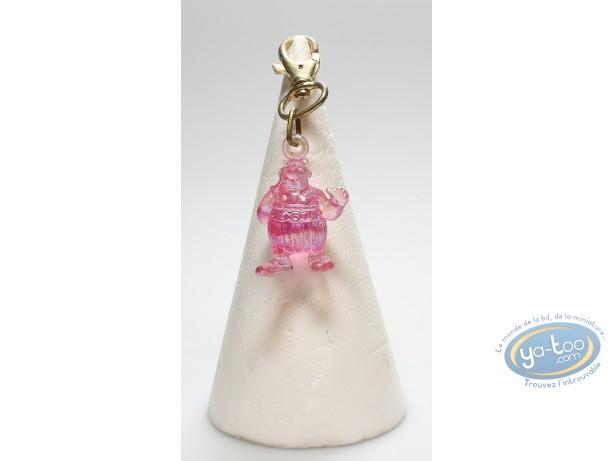 Porte-clé PVC, Astérix : Translucide Obélix rose