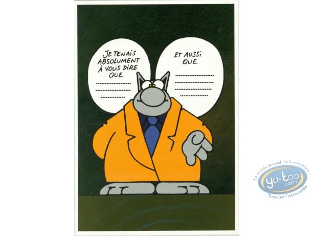 Carte postale, Chat (Le) : Le Chat tient à vous dire...