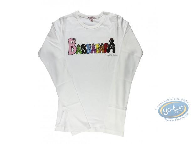 Vêtement, Barbapapa : T-shirt manches longues blanc Barbapapa: taille L, logo