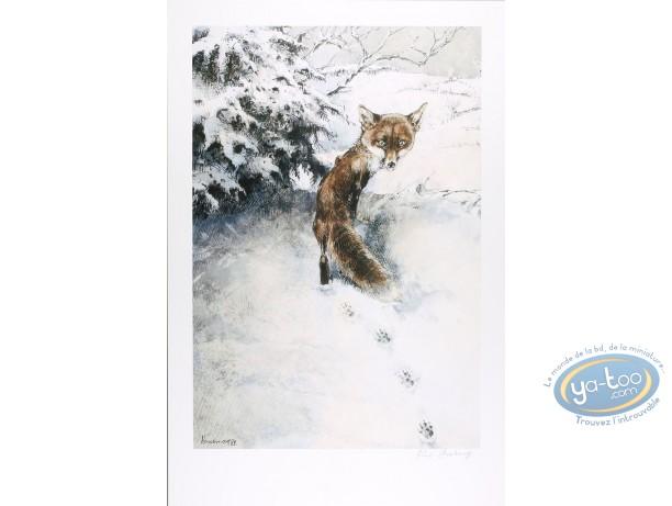 Affiche Offset, Le renard