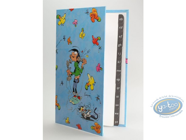 Carnet d'adresses, Gaston Lagaffe : Franquin - Gaston fleurs