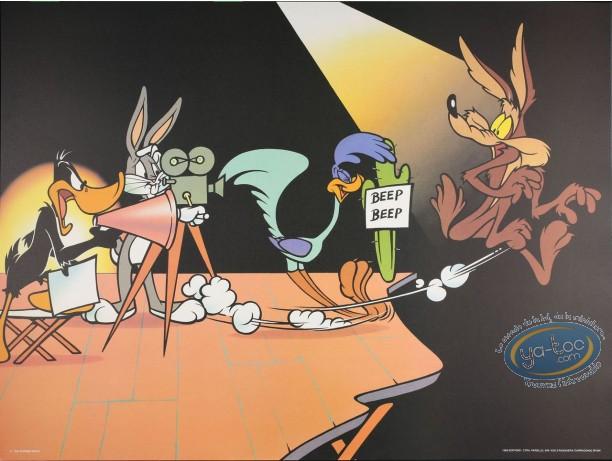 Affiche Offset, Looney Tunes (Les) : Le tournage 80X60 cm