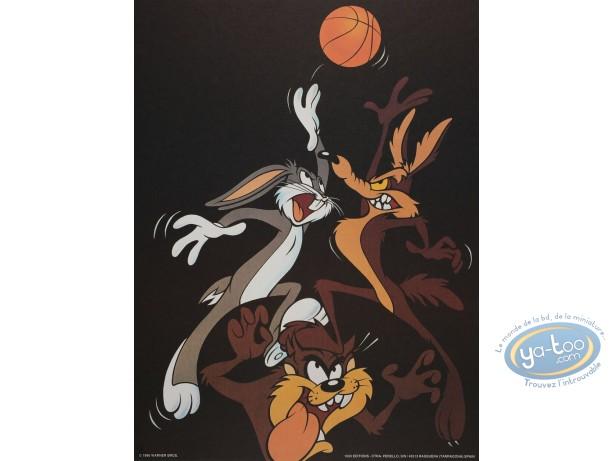 Affiche Offset, Looney Tunes (Les) : Looney basket 30X40 cm