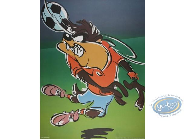 Affiche Offset, Taz : Taz footballeur 60X80 cm