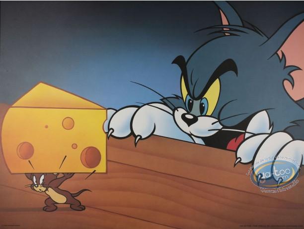 Affiche Offset, Tom et Jerry : Jerry gruyère et Tom affamé 80X60 cm