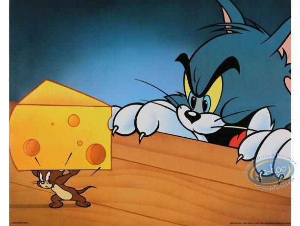 Affiche Offset, Tom et Jerry : Jerry gruyère et Tom affamé 50X40 cm