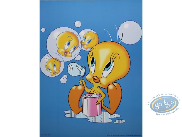 Affiche Offset, Titi : Titi bulles 30X40 cm