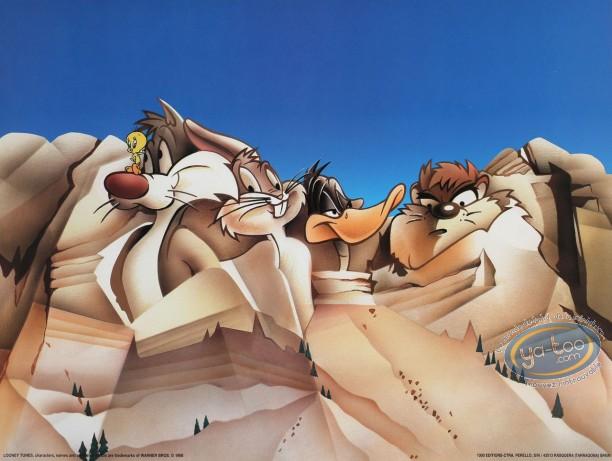 Affiche Offset, Looney Tunes (Les) : Les présidents 40X30 cm