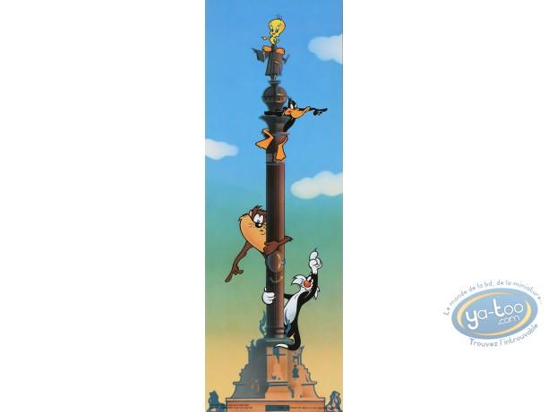 Affiche Offset, Looney Tunes (Les) : Le panneau indicateur 15X45 cm