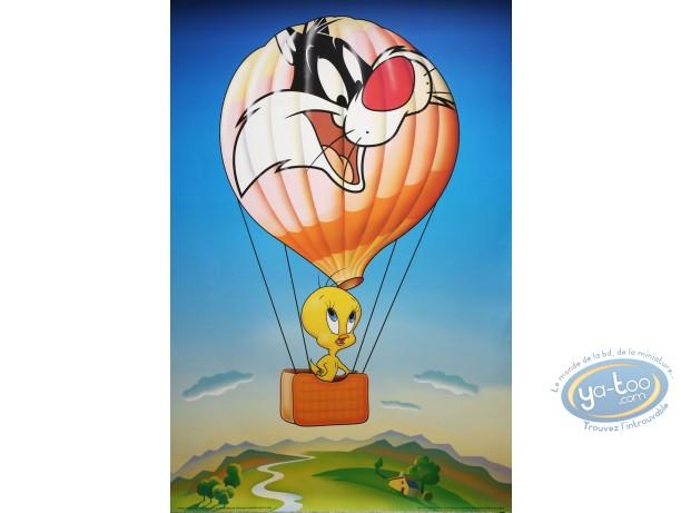 Affiche Offset, Titi : Titi montgolfière 62X93 cm
